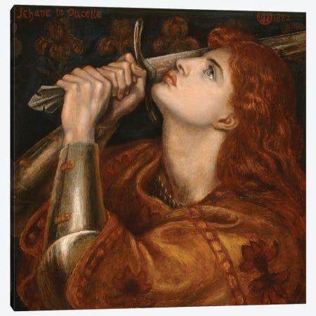 Joan of Arc, 1882  Canvas Print #BMN9956} by Dante Gabriel Charles Rossetti Canvas Artwork