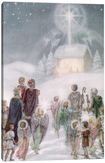 A Christmas Card from a watercolour Canvas Art Print