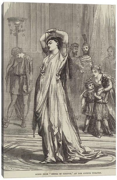 """Scene from """"Medea in Corinth,"""" at the Lyceum Theatre  Canvas Art Print"""