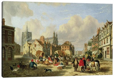 The Haymarket, Norwich, 1825  Canvas Art Print