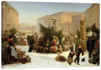 Selling Christmas Trees, 1853  Canvas Art Print