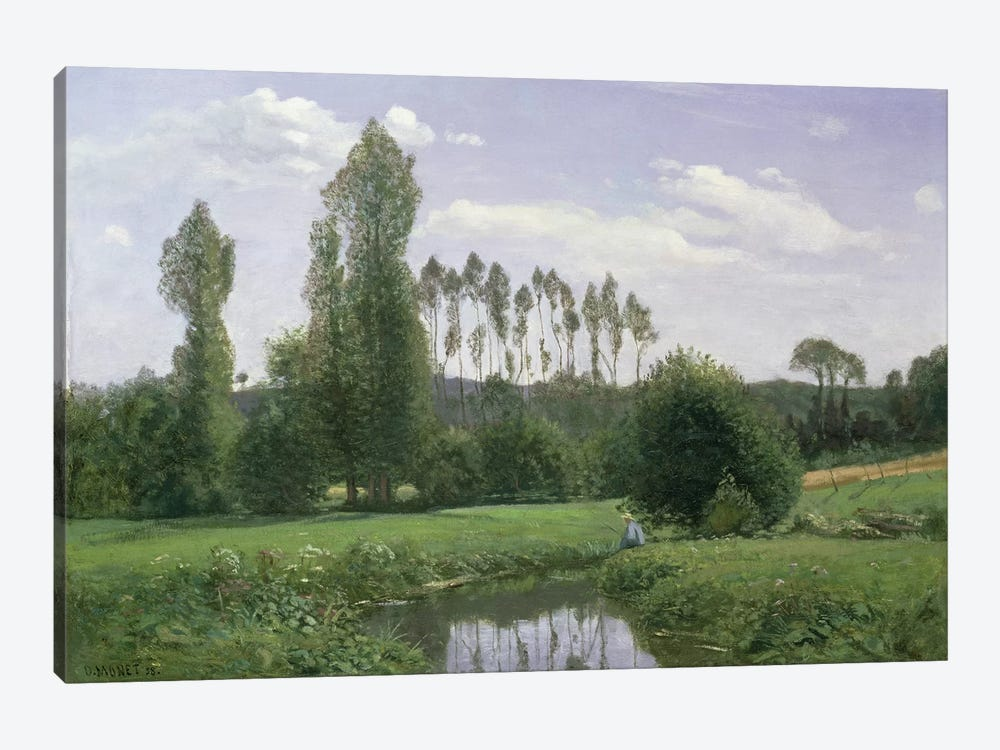 View at Rouelles, 1858 by Claude Monet 1-piece Canvas Artwork