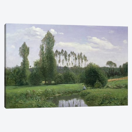 View at Rouelles, 1858 Canvas Print #BMN996} by Claude Monet Canvas Art Print