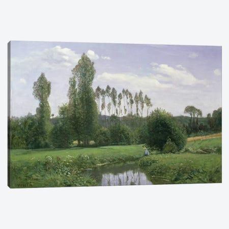 View at Rouelles, 1858 Canvas Print #BMN996} by Claude Monet Canvas Art Print
