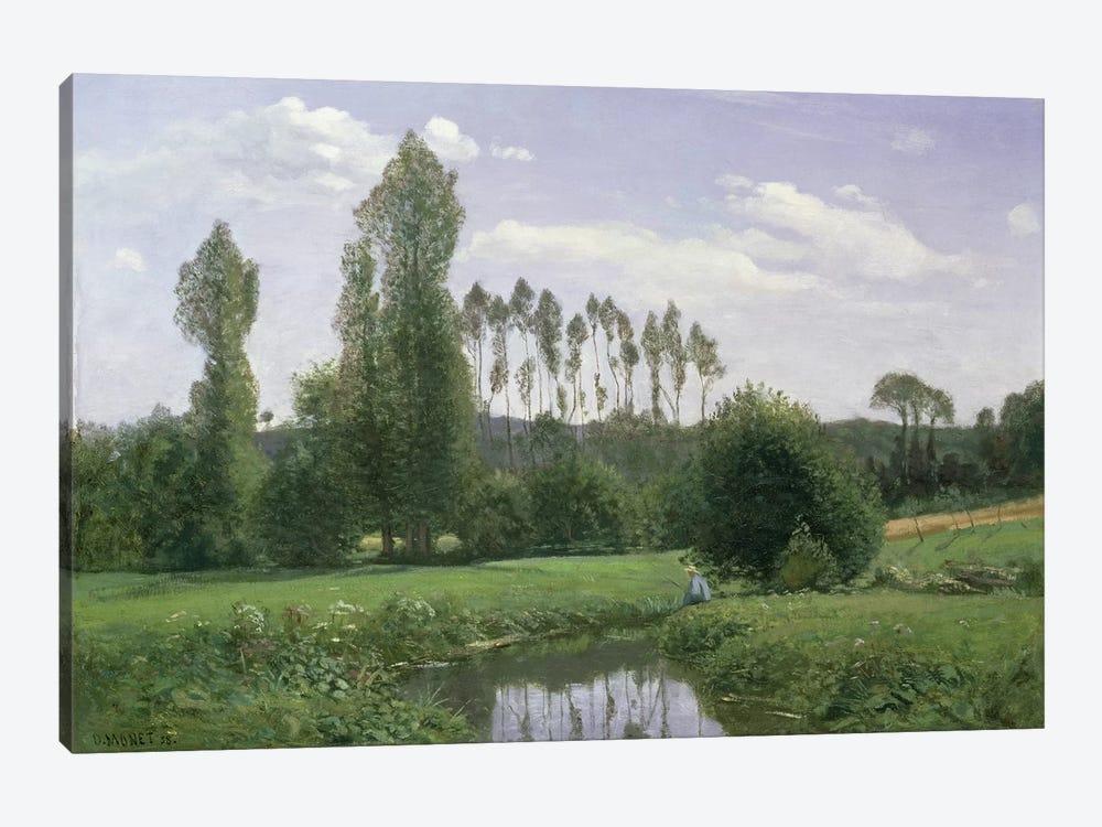 View at Rouelles, 1858 by Claude Monet 1-piece Canvas Artwork