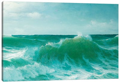 A breaking wave, 1894  Canvas Art Print
