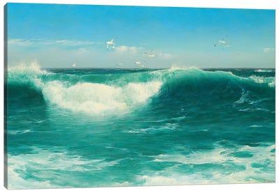 A Cornish Roller, 1898  Canvas Art Print