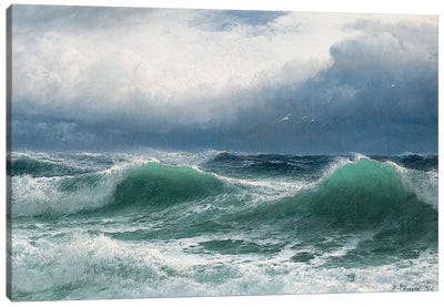 Stormy sea with translucent breakers, 1894  Canvas Art Print