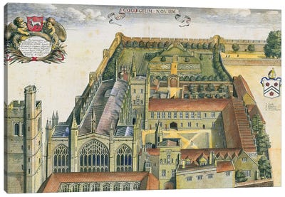 New College, Oxford, from 'Oxonia Illustrata', published 1675  Canvas Art Print