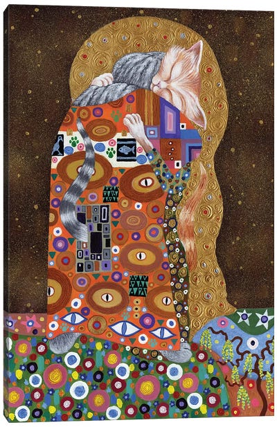 Feline Fulfillment, 2011,  Canvas Art Print