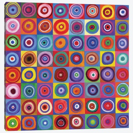 In Square Circle 64 after Kandinsky, 2012,  Canvas Print #BMN9979} by David Newton Canvas Art Print