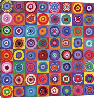 In Square Circle 64 after Kandinsky, 2012,  Canvas Art Print