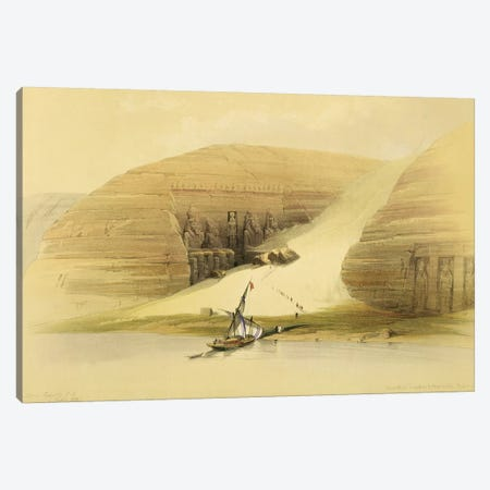 """Excavated Temple of Abu Simbel, from """"Egypt and Nubia"""", Vol.1  Canvas Print #BMN9985} by David Roberts Canvas Print"""