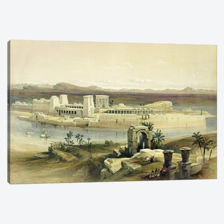 """General View of the Island of Philae, Nubia, from """"Egypt and Nubia"""", Vol.1  Canvas Print #BMN9987} by David Roberts Canvas Art Print"""
