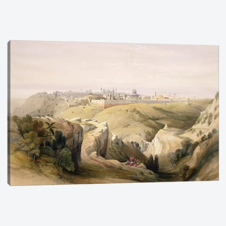 Jerusalem from the Mount of Olives, April 8th 1839, plate 6 from Volume I of 'The Holy Land'pub. 1842  Canvas Print #BMN9992} by David Roberts Art Print