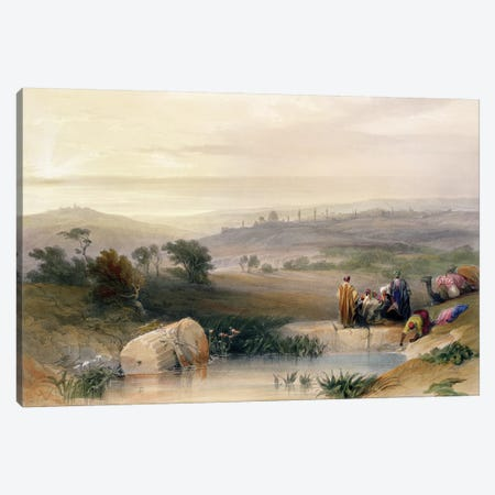 Jerusalem, April 1839, plate 22 from Volume I of 'The Holy Land' pub. 1842  Canvas Print #BMN9993} by David Roberts Art Print