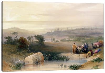 Jerusalem, April 1839, plate 22 from Volume I of 'The Holy Land' pub. 1842  Canvas Art Print