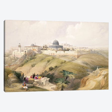 Jerusalem, April 9th 1839, plate 16 from Volume I of 'The Holy Land' pub. 1842  Canvas Print #BMN9994} by David Roberts Canvas Art