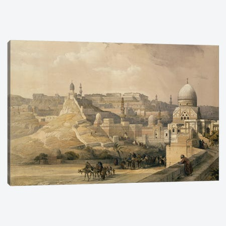 """The Citadel of Cairo, Residence of Mehmet Ali, from """"Egypt and Nubia"""", Vol.3, 1838  Canvas Print #BMN9996} by David Roberts Canvas Art"""