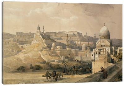 """The Citadel of Cairo, Residence of Mehmet Ali, from """"Egypt and Nubia"""", Vol.3, 1838  Canvas Art Print"""