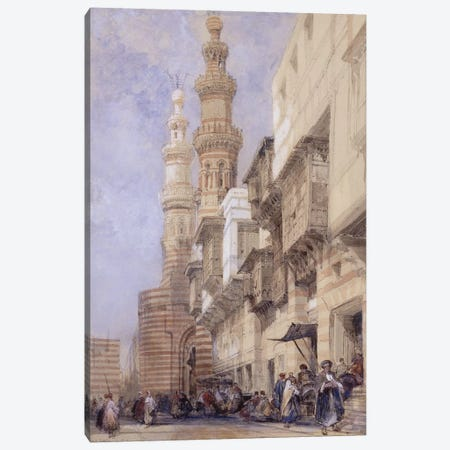 The Gate of Metwaley, Cairo, 1838  Canvas Print #BMN9998} by David Roberts Art Print