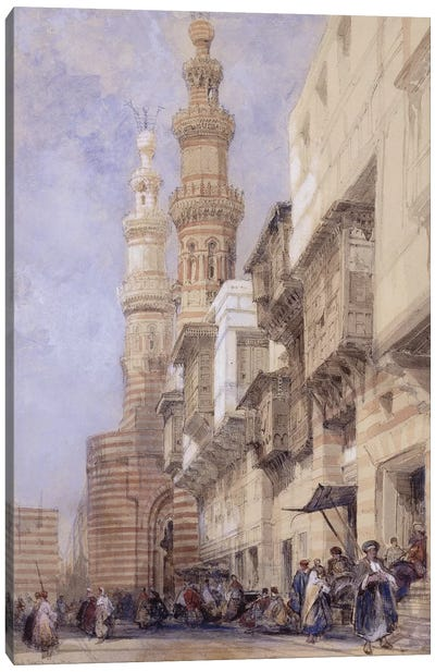 The Gate of Metwaley, Cairo, 1838  Canvas Art Print