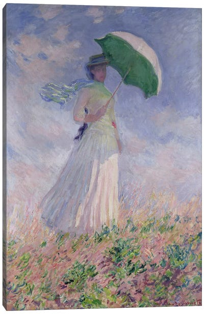 Woman with a Parasol turned to the Right, 1886  Canvas Print #BMN999