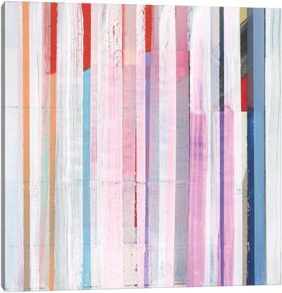 Red Pink Stripes I Canvas Art Print