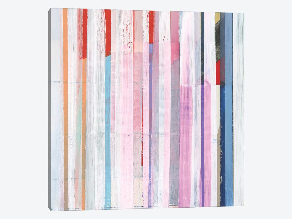 Red Pink Stripes I by Bellissimo Art 1-piece Canvas Wall Art
