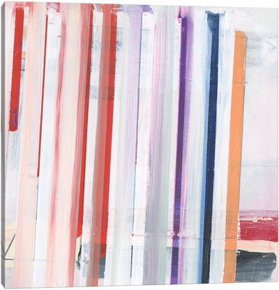 Red Pink Stripes II Canvas Art Print