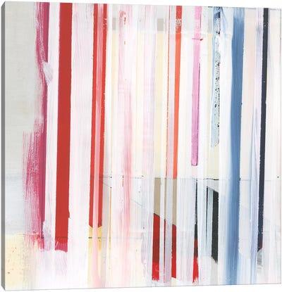 Red Pink Stripes III Canvas Art Print
