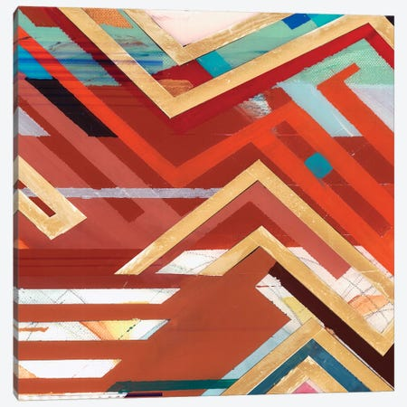 Zig Zag II Canvas Print #BMO22} by Bellissimo Art Canvas Art Print