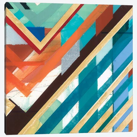 Zig Zag III Canvas Print #BMO23} by Bellissimo Art Art Print