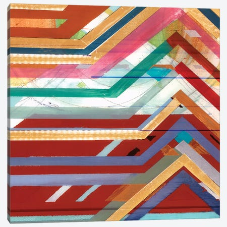 Zig Zag V Canvas Print #BMO25} by Bellissimo Art Canvas Art