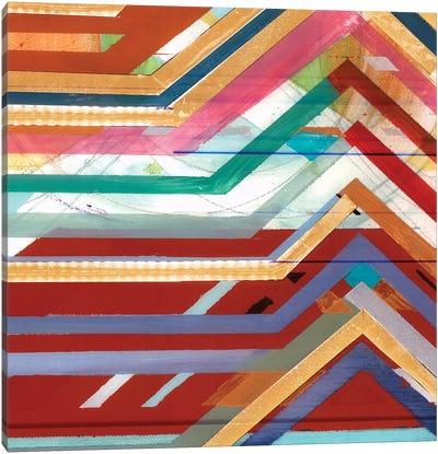 Zig Zag V Canvas Art Print