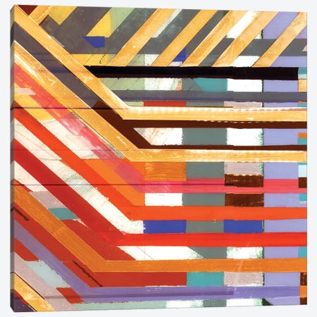 Zig Zag VI Canvas Print #BMO26} by Bellissimo Art Canvas Art