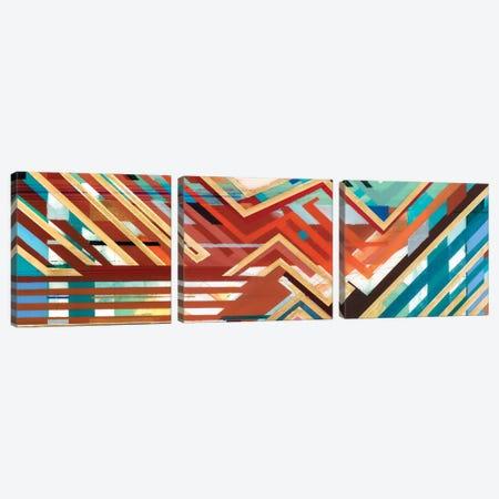 Zig Zag Triptych I Canvas Print Set #BMO3HSET001} by Bellissimo Art Art Print