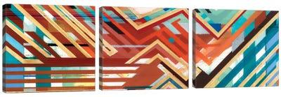 Zig Zag Triptych I Canvas Art Print