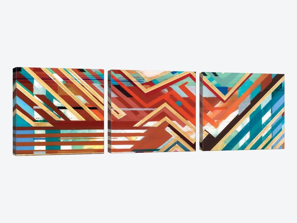 Zig Zag Triptych I by Bellissimo Art 3-piece Canvas Artwork