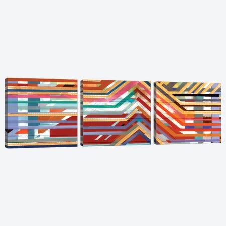Zig Zag Triptych II Canvas Print Set #BMO3HSET002} by Bellissimo Art Canvas Print