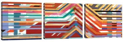 Zig Zag Triptych II Canvas Art Print