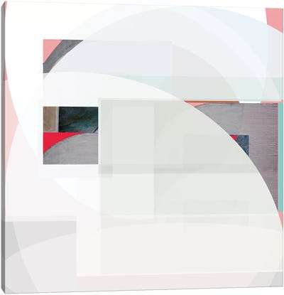 Stripes and Circles I Canvas Art Print