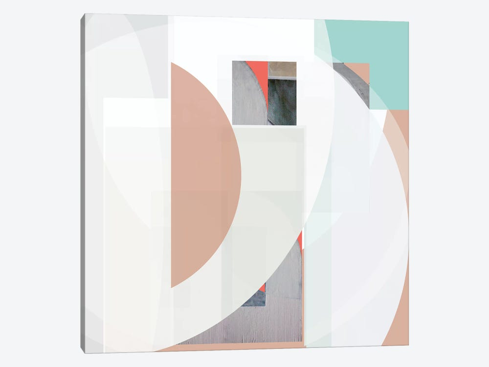 Stripes and Circles III by Bellissimo Art 1-piece Canvas Print
