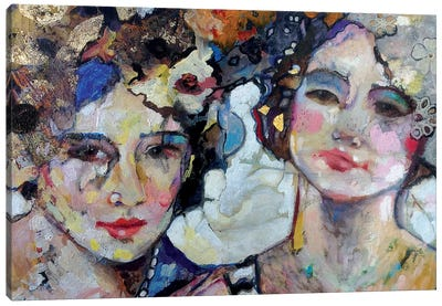 Femmes In Old Lace Canvas Art Print