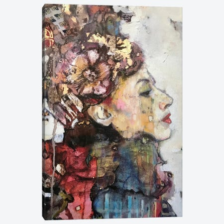 Gertrude In A Scarf Canvas Print #BMT12} by Juliette Belmonte Art Print
