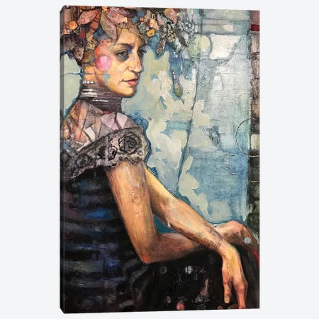Andrea In Flowers Canvas Print #BMT2} by Juliette Belmonte Canvas Artwork