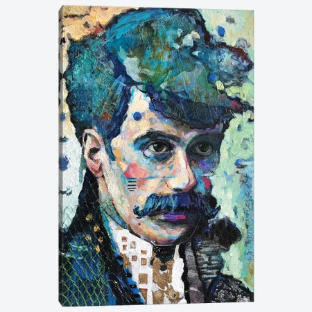 Mr Mustache Canvas Print #BMT41} by Juliette Belmonte Canvas Artwork