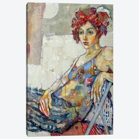 Chi-Chi In Red 3-Piece Canvas #BMT7} by Juliette Belmonte Art Print