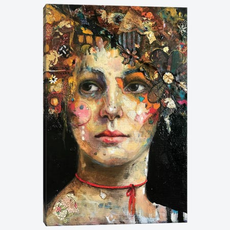 Fancy Maude Canvas Print #BMT9} by Juliette Belmonte Canvas Art