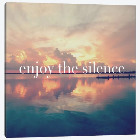 Enjoy the Silence Canvas Print #BNA13} by Bruce Nawrocke Canvas Art